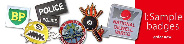 Sample Fabric Badges – Order Now