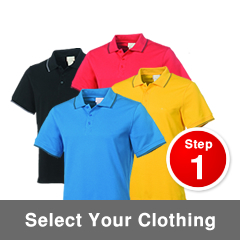 Step 1 – Select Your Clothing