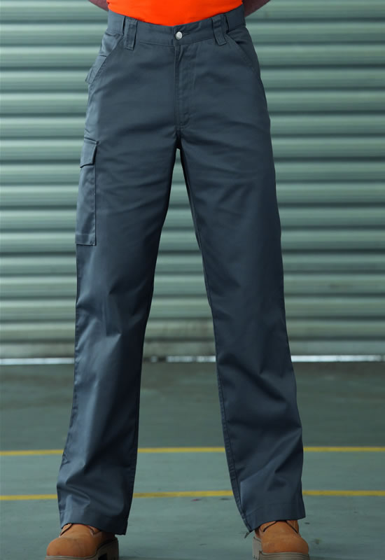 POLY/COTTON TWILL WORKWEAR TROUSERS - LONG