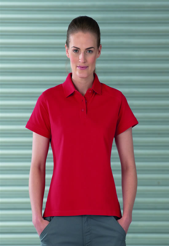 WOMENS HEAVY DUTY COTTON POLO