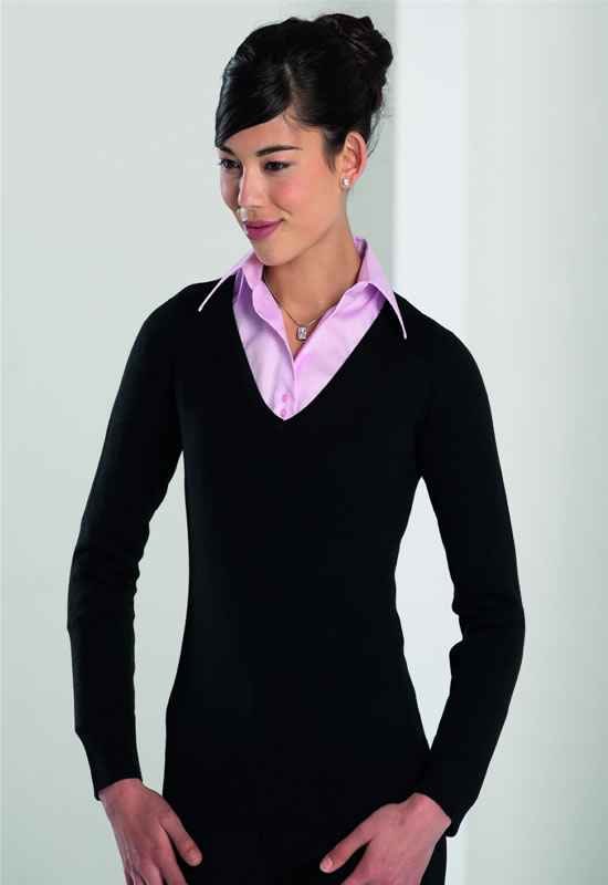 WOMENS V-NECK KNITTED SWEATER
