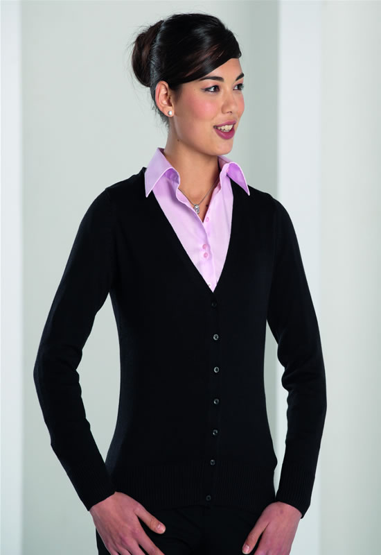 WOMENS V-NECK KNITTED CARDIGAN