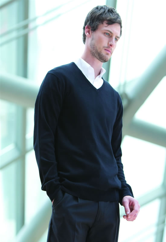MENS 12GG V-NECK JUMPER
