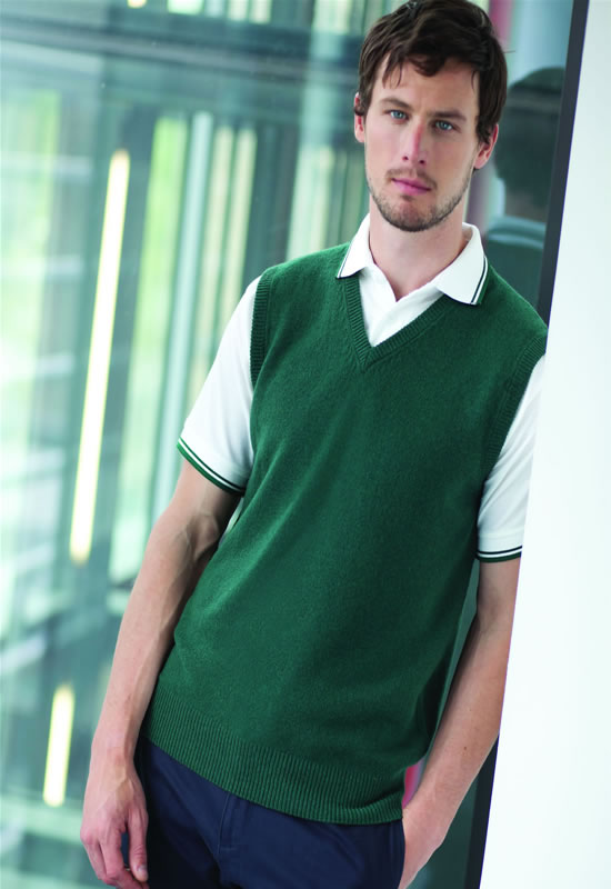 SLEEVELESS LAMBSWOOL V-NECK JUMPER