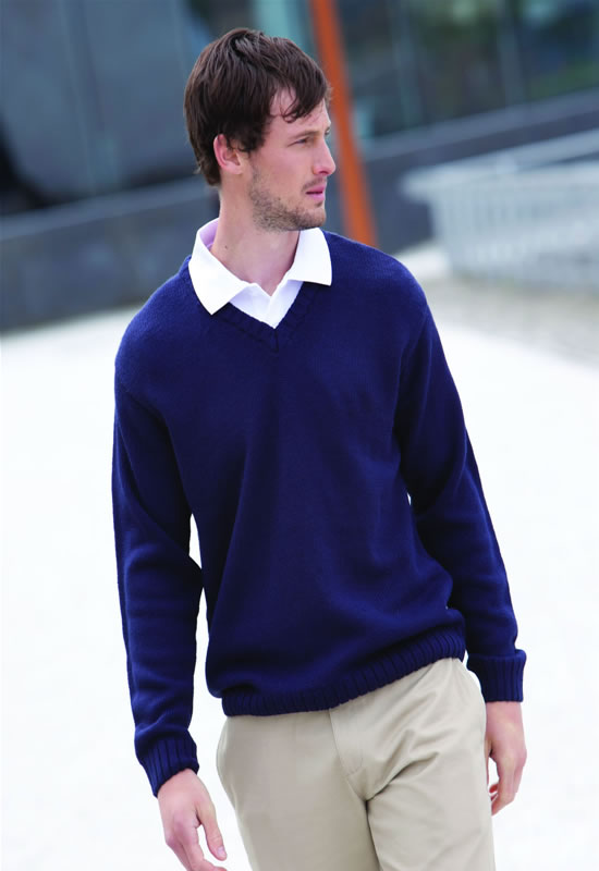 ACRYLIC V-NECK JUMPER