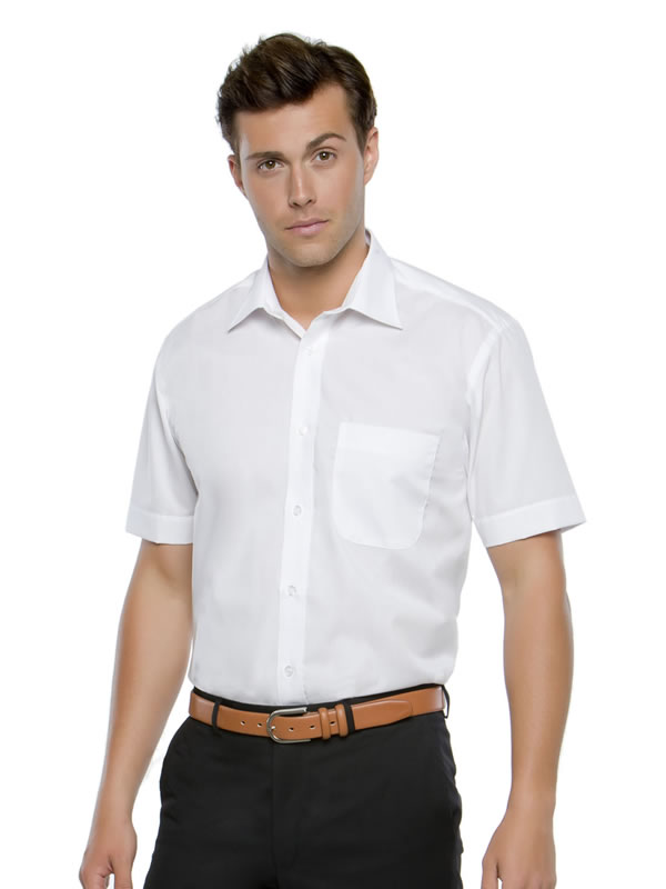 BUSINESS SHIRT SHORT SLEEVED