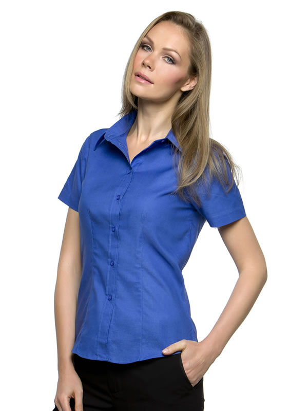 WORKPLACE OXFORD BLOUSE SHORT SLEEVED WOMENS