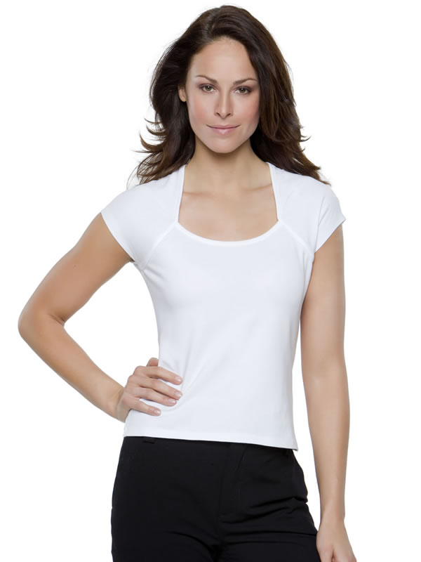 CORPORATE TOP SCOOP NECK WOMENS