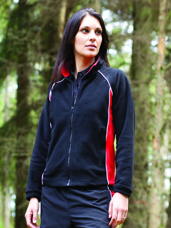 WOMENS PIPED MICROFLEECE