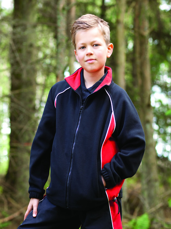KIDS PIPED MICROFLEECE