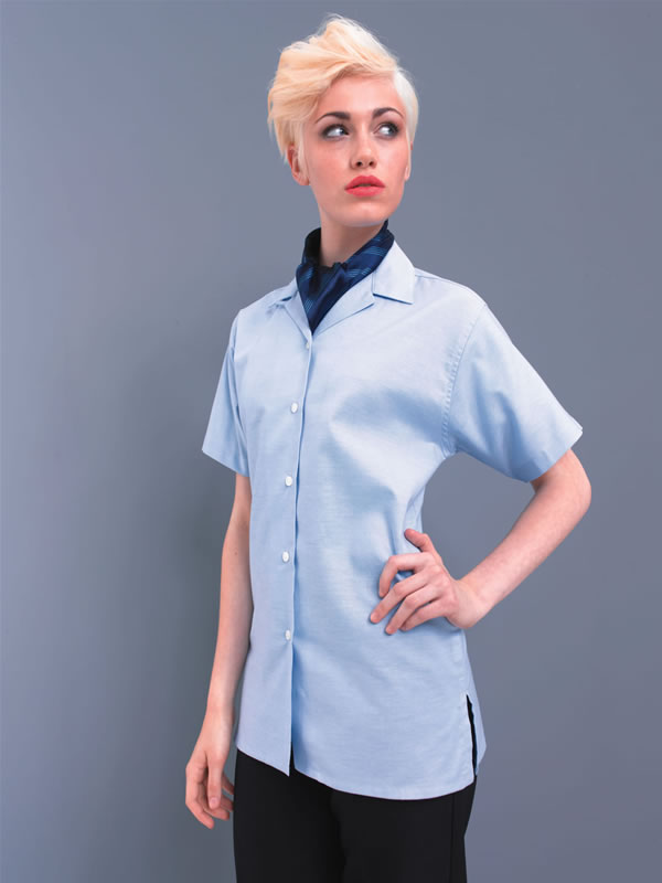 WOMENS S/S OXFORD BLOUSE