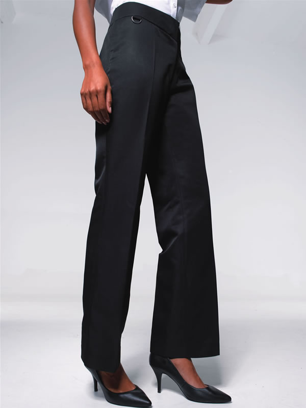 WOMENS FLAT FRONT HOSPITALITY TROUSER - BOOTCUT