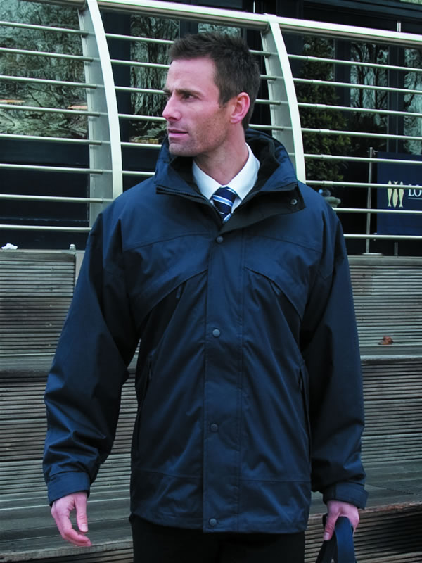 3-IN-1 ZIP & CLIP FLEECE LINED WATERPROOF JACKET